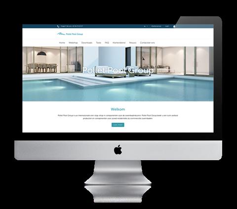 website on desktop